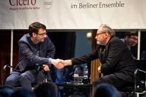 Klaus Maria Brandauer, Foyergespraech, BE Berlin, 12-04-2015